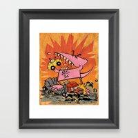 Dennis Dinosaurs's Delig… Framed Art Print