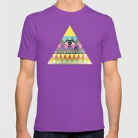 Pyramid In Space. Mens Fitted Tee Ultraviolet SMALL