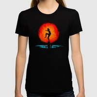 Minimalist Karate Kid Tr… Womens Fitted Tee Black SMALL