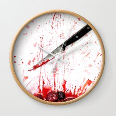 Healthy bloody Eating Wall Clock