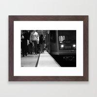 San Francisco Muni In Bl… Framed Art Print