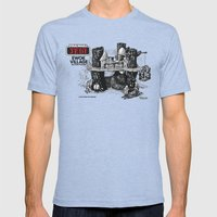 Ewok Village Mens Fitted Tee Tri-Blue SMALL