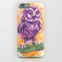 iPhone & iPod Case featuring Cute Lil' Ol' Owl by KristinMillerArt