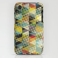 iPhone 3Gs & iPhone 3G Cases featuring Dots and Triangles II by Metron