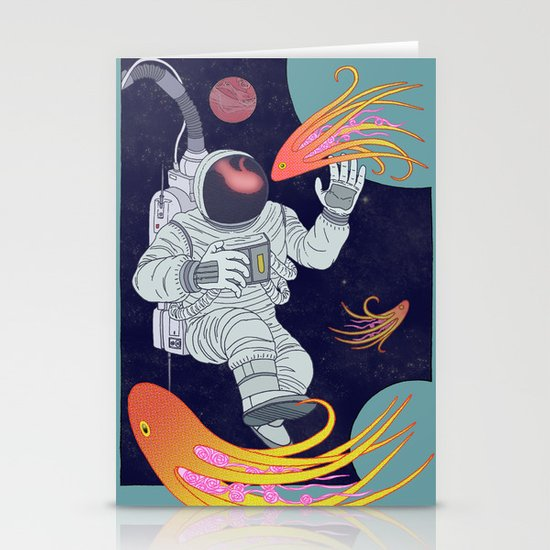 Cosmonaut Stationery Card