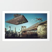 Battle of Brooklyn Bridge Art Print