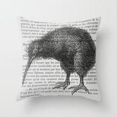 Curious Kiwi Throw Pillow