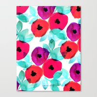 Pretty Pink Floral Canvas Print