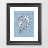 Cuckoo clocking Framed Art Print