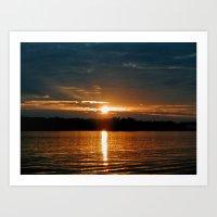 Sunrise on Lake Oconee Art Print