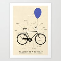 Anatomy Of A Bicycle Art Print