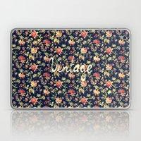 Vintage Elegant Pink and Red Roses Floral Pattern Laptop & iPad Skin