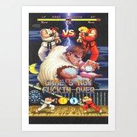 GAME'S NOT FUCKIN OVER! … Art Print