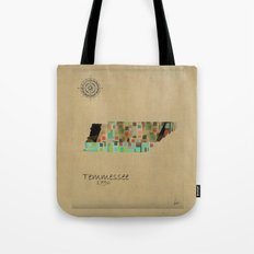Tennessee state map  Tote Bag