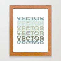 Vector Framed Art Print
