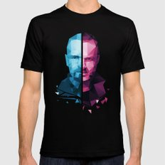 BREAKING BAD - White/Pinkman Mens Fitted Tee Black SMALL