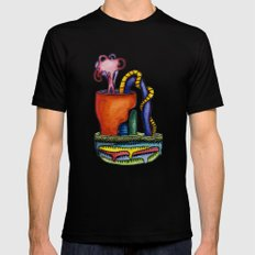 Cuffed Bluff SMALL Black Mens Fitted Tee