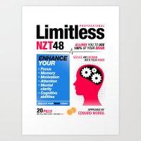 Limitless NZT 48 Pill Exist! Bradley Cooper / Robert De Niro (2nd Version) Art Print