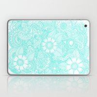 Henna Design - Aqua Laptop & iPad Skin