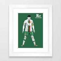 R is for Ronaldo Framed Art Print