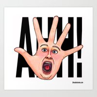 Five Fingered Face Art Print