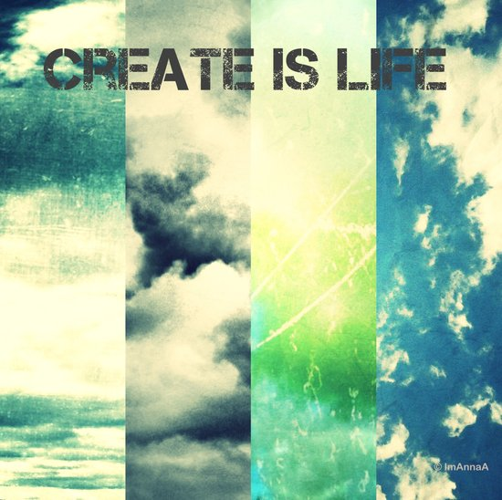CREATE IS LIFE Art Print