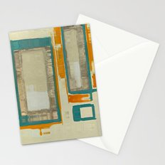 Mid Century Modern Abstract Stationery Cards