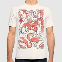 Fox Pattern Mens Fitted Tee Natural SMALL