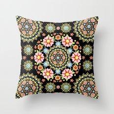 Flower Crown Fiesta Throw Pillow
