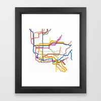 NYC Subway System (Compl… Framed Art Print