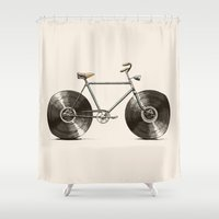Velophone Shower Curtain