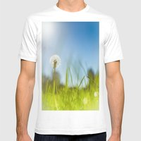 Blue & Green & Dandy Mens Fitted Tee White SMALL