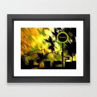 Herbstimpression. Framed Art Print