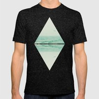 Parallel Waves Mens Fitted Tee Tri-Black SMALL