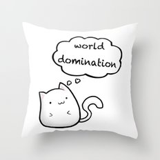 Cats World Domination Throw Pillow