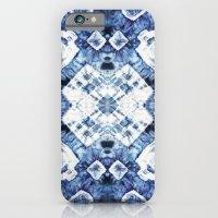 Blue Silk Tie-Dye iPhone 6 Slim Case