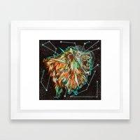Space Lion  Framed Art Print