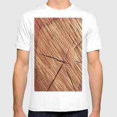 REDWOOD Mens Fitted Tee SMALL White