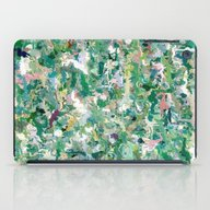 Abstract Green & Blue iPad Case