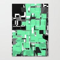 Digital Squares Canvas Print