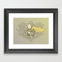 Fearless Creature: Chimpy Framed Art Print