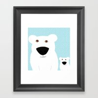 Winter - Polar Bear 2 Framed Art Print