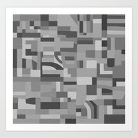 Vegas Tex Black And Whit… Art Print