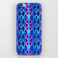 Blue/Purple Metallic Pattern iPhone & iPod Skin