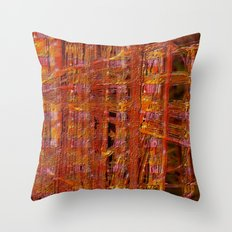 abstract  ~ rust imprint Throw Pillow