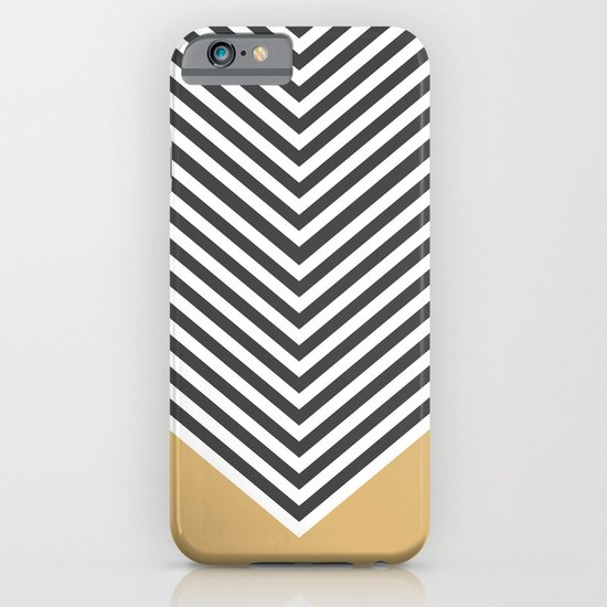 Gold Chevron iPhone & iPod Case