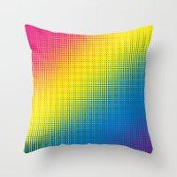Color Chaos  Throw Pillow
