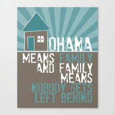 Ohana Means Family - Lilo & Stitch Canvas Print