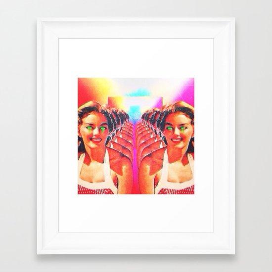 Lets get trippy Framed Art Print