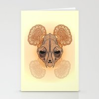 War Mask Stationery Cards